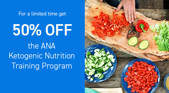 50 percent discount on the Ketogenic Nutrition Training Program