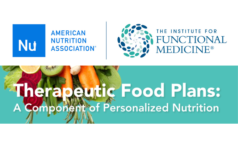 Therapeutic Food Plans: A Component of Personalized Nutrition Course Now Open